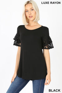 Ruffle-Sleeve Top