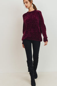 Burgundy Chenille Sweater