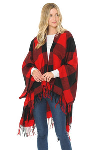 Buffalo Plaid Poncho