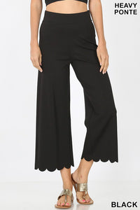 Scallop Crop Pant