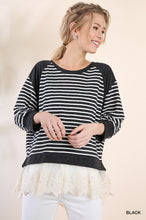 Lacy Striped Top