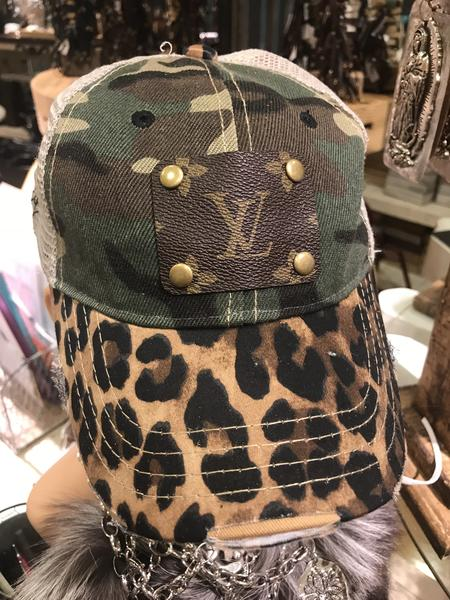 Camo Leopard Distressed LV Hat