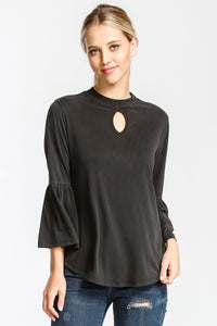 Black Modal Blouse