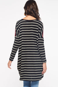 Striped Contrast Tunic
