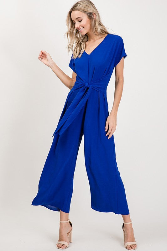 Royal Cropped Jumpsuit