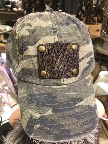 Camo Distressed LV Hat