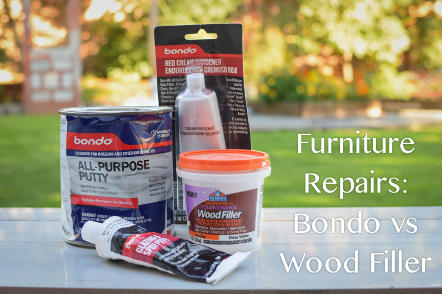 Furniture Repairs: Bondo vs. Wood Filler
