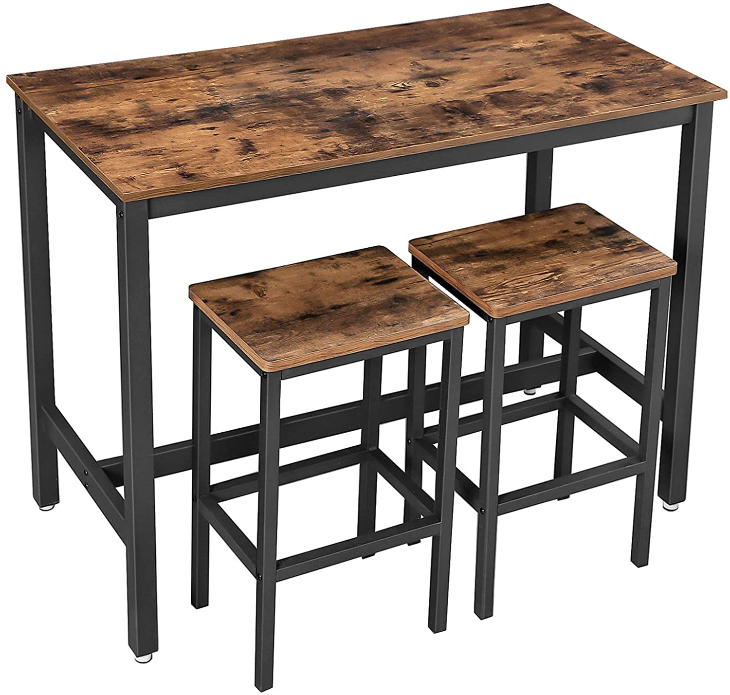 Enjoy fast, free nationwide shipping!  Owned by a husband and wife team of high-school music teachers, HawkinsWoodshop.com is your one stop shop for affordable furniture.  Shop HawkinsWoodshop.com for solid wood & metal modern, traditional, contemporary, industrial, custom, rustic, and farmhouse furniture including our Ryan Industrial Farmhouse Bar Table w/ 2 Stools.