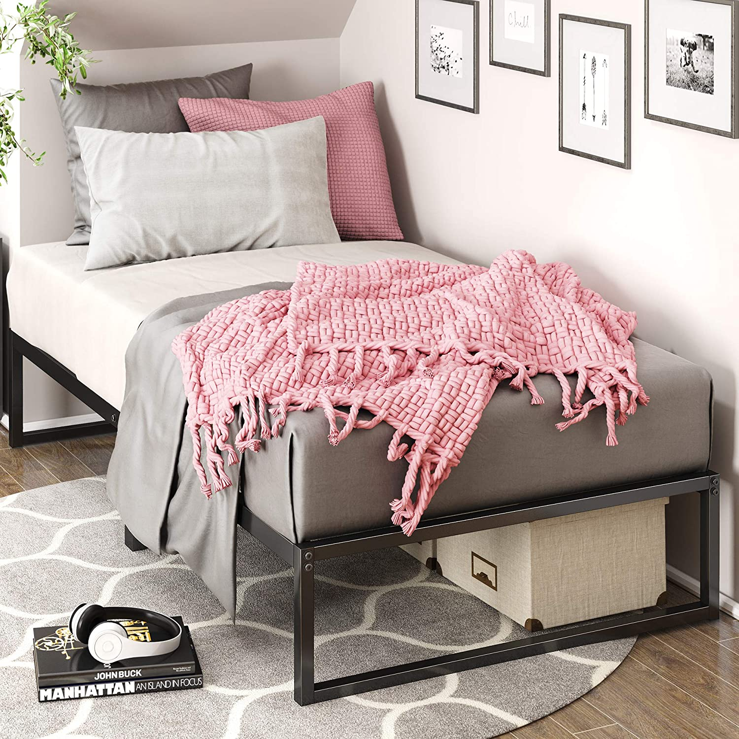Enjoy fast, free nationwide shipping!  Owned by a husband and wife team of high-school music teachers, HawkinsWoodshop.com is your one stop shop for affordable furniture.  Shop HawkinsWoodshop.com for solid wood & metal modern, traditional, contemporary, industrial, custom, rustic, and farmhouse furniture including our Platform Metal Bed Frame in Twin Size.