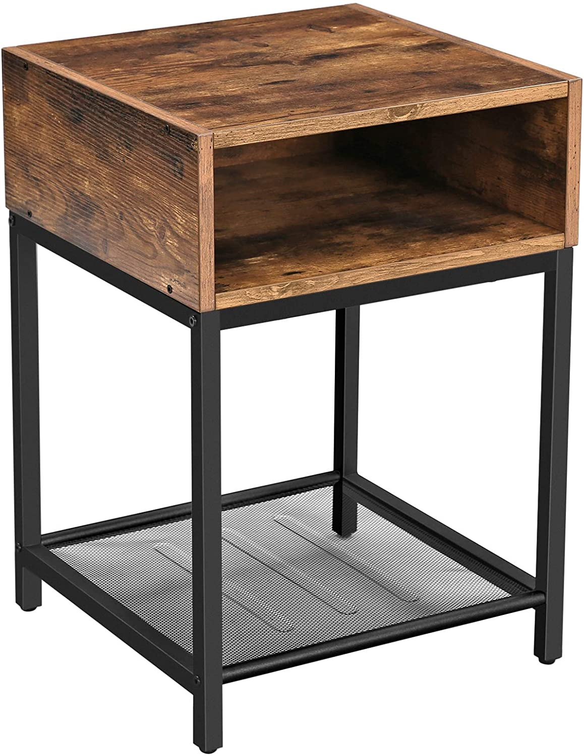 Enjoy fast, free nationwide shipping!  Family owned and operated, HawkinsWoodshop.com is your one stop shop for affordable furniture.  Shop HawkinsWoodshop.com for solid wood & metal modern, traditional, contemporary, industrial, custom, rustic, and farmhouse furniture including our Ryan Open Drawer w/ Mesh Shelf Industrial Nightstand End Table.