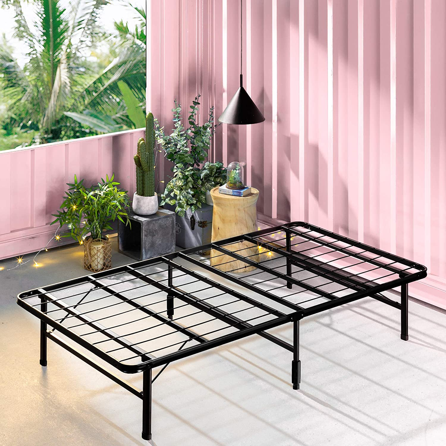 Enjoy fast, free nationwide shipping!  Owned by a husband and wife team of high-school music teachers, HawkinsWoodshop.com is your one stop shop for affordable furniture.  Shop HawkinsWoodshop.com for solid wood & metal modern, traditional, contemporary, industrial, custom, rustic, and farmhouse furniture including our Black Zero Assembly Bed Frame in Narrow Twin Size.