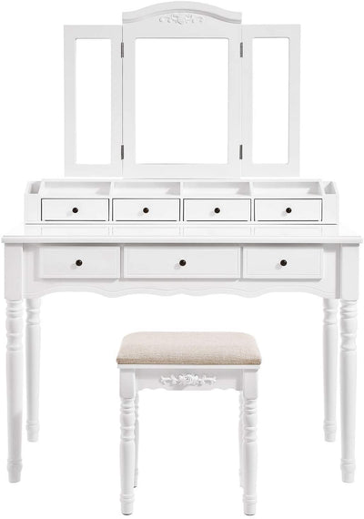 Enjoy fast, free nationwide shipping!  Family owned and operated, HawkinsWoodshop.com is your one stop shop for affordable furniture.  Shop HawkinsWoodshop.com for solid wood & metal modern, traditional, contemporary, industrial, custom, rustic, and farmhouse furniture including our Tri-Folding Mirror Vanity Set in White.