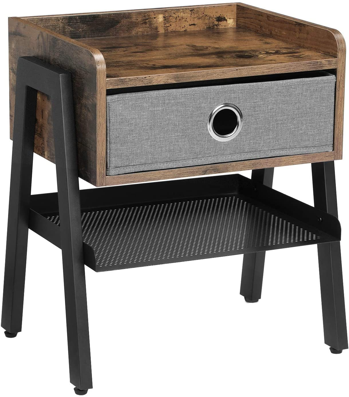 Enjoy fast, free nationwide shipping!  Owned by a husband and wife team of high-school music teachers, HawkinsWoodshop.com is your one stop shop for affordable furniture.  Shop HawkinsWoodshop.com for solid wood & metal modern, traditional, contemporary, industrial, custom, rustic, and farmhouse furniture including our Ryan Fabric Drawer End Table with Metal Shelf.
