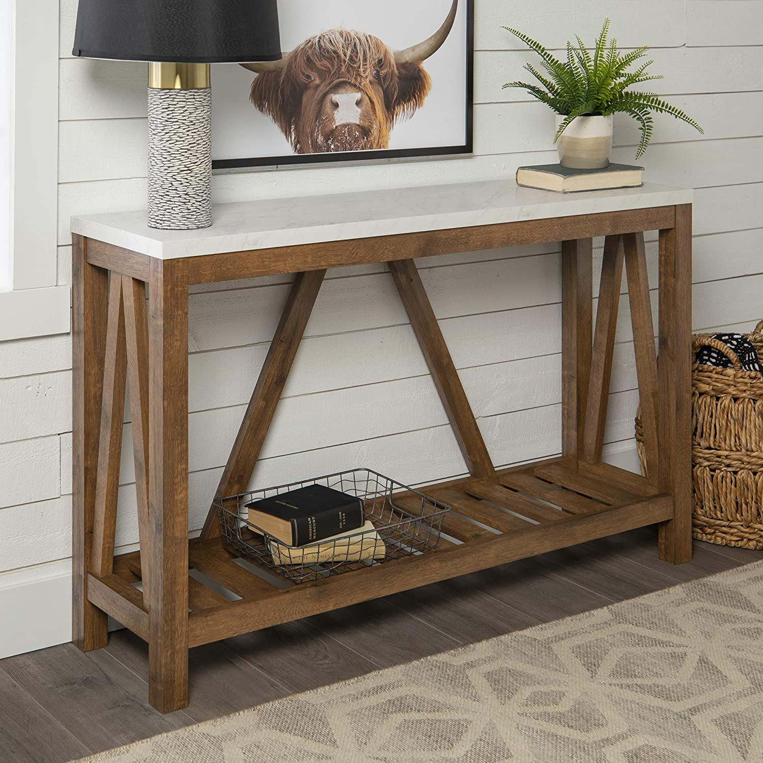 Farmhouse Accent Entryway Table