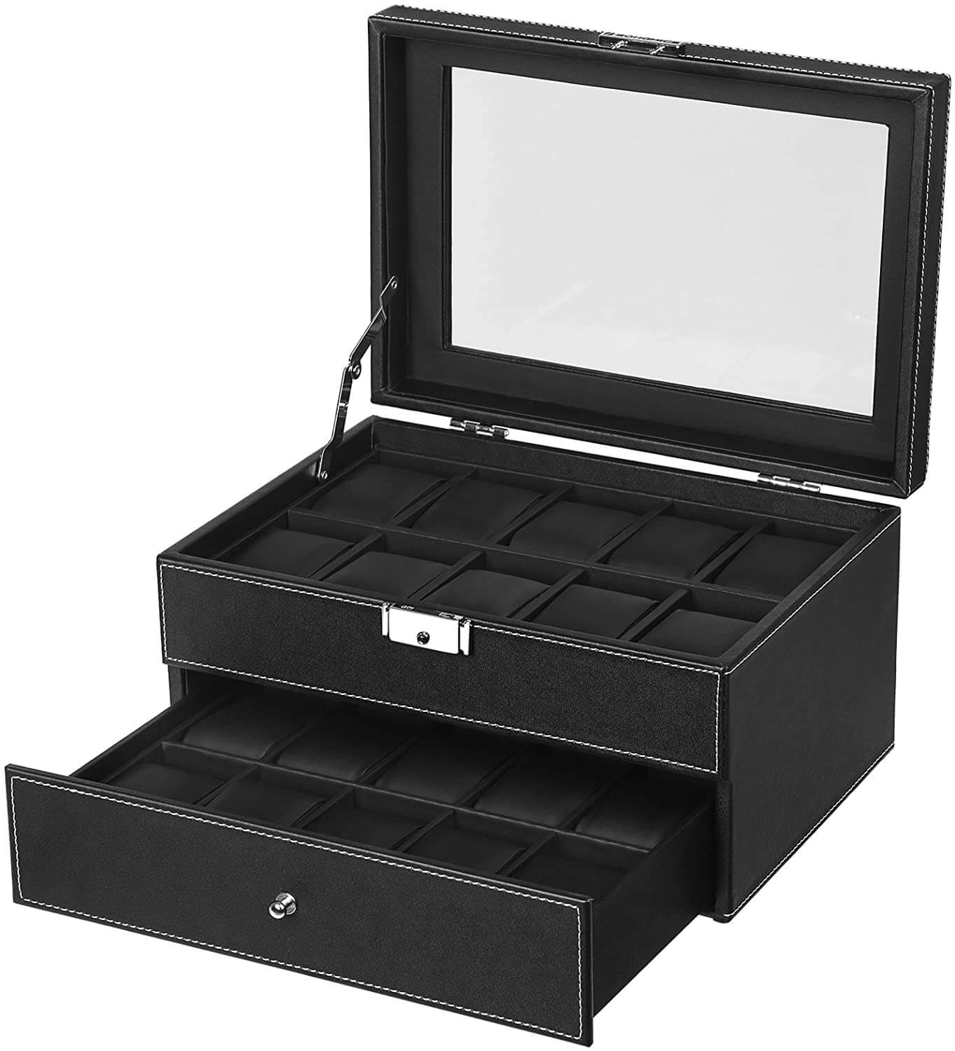 Enjoy fast, free nationwide shipping!  Family owned and operated, HawkinsWoodshop.com is your one stop shop for affordable furniture.  Shop HawkinsWoodshop.com for solid wood & metal modern, traditional, contemporary, industrial, custom, rustic, and farmhouse furniture including our 20 Slots Lockable Watch Box in Black.