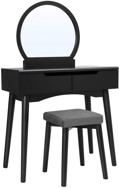 Enjoy fast, free nationwide shipping!  Family owned and operated, HawkinsWoodshop.com is your one stop shop for affordable furniture.  Shop HawkinsWoodshop.com for solid wood & metal modern, traditional, contemporary, industrial, custom, rustic, and farmhouse furniture including our Black Modern Makeup Vanity Set.