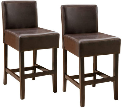 Bonded Leather Counter Stool in Brown