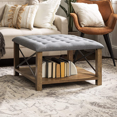 Enjoy fast, free nationwide shipping!  Owned by a husband and wife team of high-school music teachers, HawkinsWoodshop.com is your one stop shop for affordable furniture.  Shop HawkinsWoodshop.com for solid wood & metal modern, traditional, contemporary, industrial, custom, rustic, and farmhouse furniture including our Tufted Upholstered Fabric Storage Ottoman in Reclaimed Barnwood.