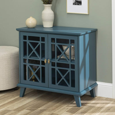 Enjoy fast, free nationwide shipping!  Family owned and operated, HawkinsWoodshop.com is your one stop shop for affordable furniture.  Shop HawkinsWoodshop.com for solid wood & metal modern, traditional, contemporary, industrial, custom, rustic, and farmhouse furniture including our Wood Accent Buffet Sideboard Serving Storage Cabinet in Blue.