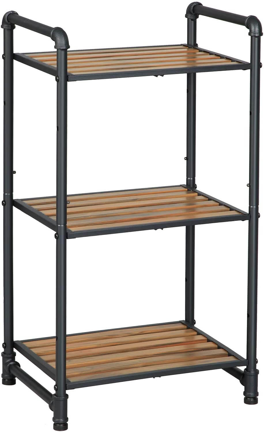 Enjoy fast, free nationwide shipping!  Family owned and operated, HawkinsWoodshop.com is your one stop shop for affordable furniture.  Shop HawkinsWoodshop.com for solid wood & metal modern, traditional, contemporary, industrial, custom, rustic, and farmhouse furniture including our 3-Tier Slatted Board Metal Pipe Storage Rack.
