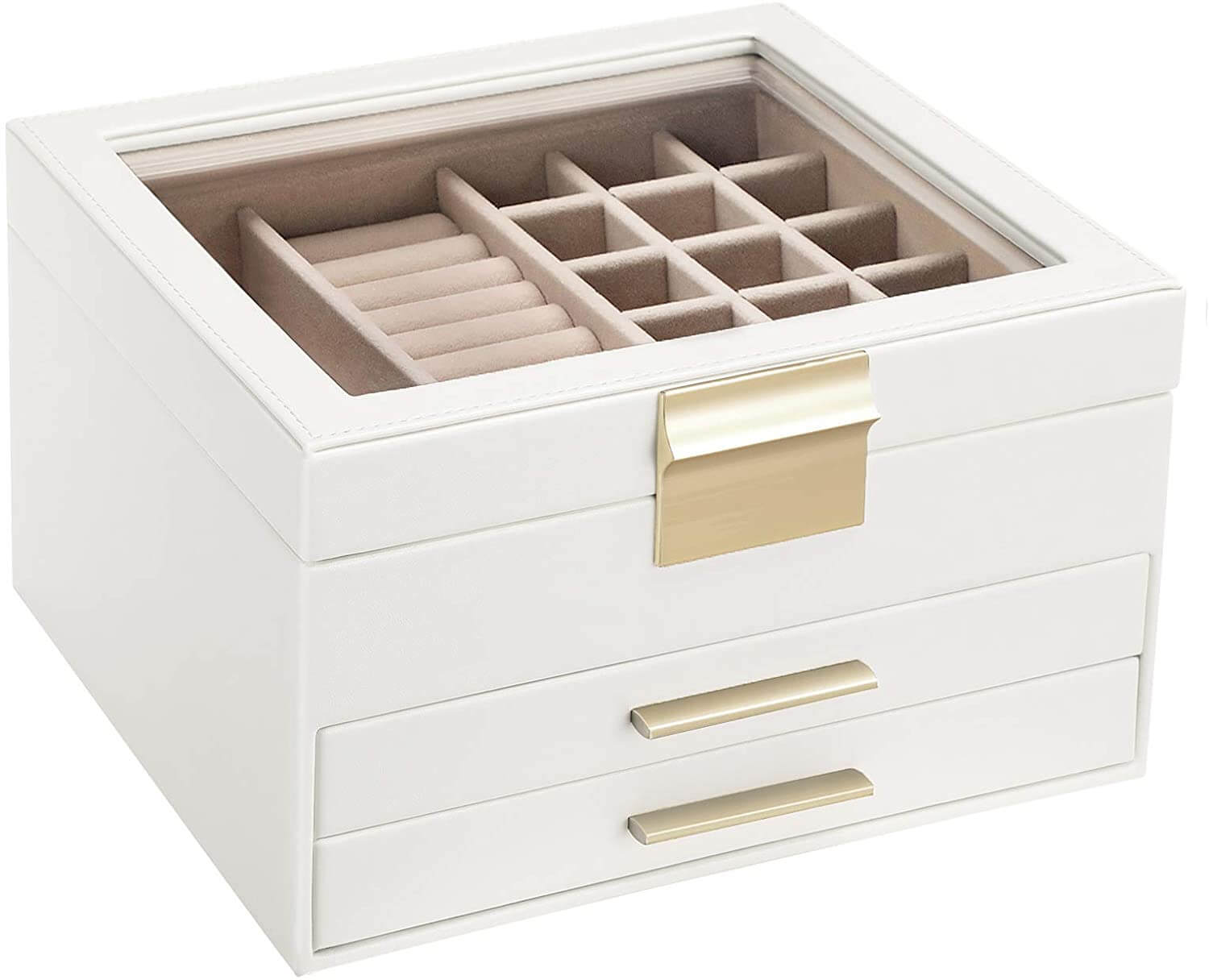 Enjoy fast, free nationwide shipping!  Owned by a husband and wife team of high-school music teachers, HawkinsWoodshop.com is your one stop shop for affordable furniture.  Shop HawkinsWoodshop.com for solid wood & metal modern, traditional, contemporary, industrial, custom, rustic, and farmhouse furniture including our 3 Layer Jewelry Box with Glass Lid.