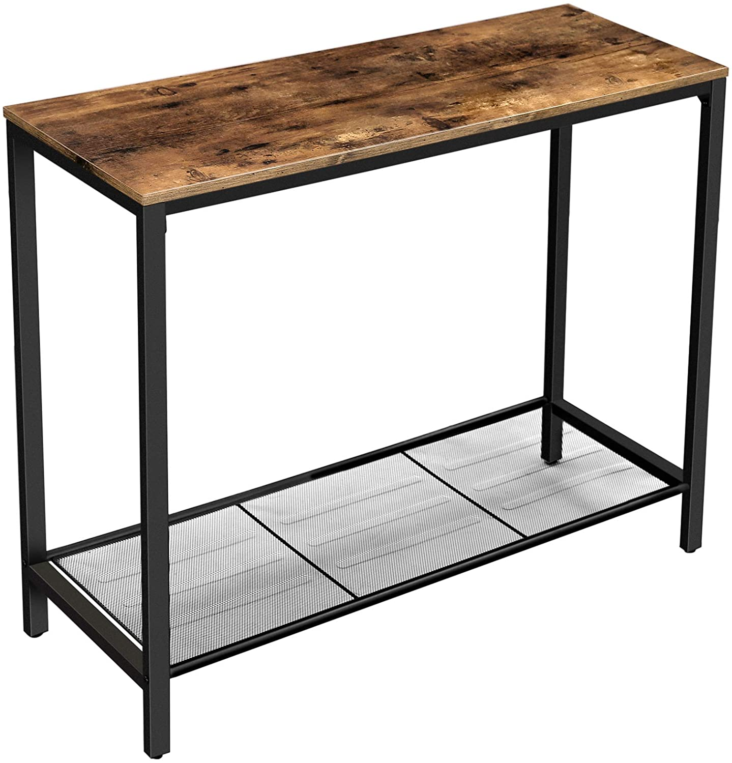 Enjoy fast, free nationwide shipping!  Family owned and operated, HawkinsWoodshop.com is your one stop shop for affordable furniture.  Shop HawkinsWoodshop.com for solid wood & metal modern, traditional, contemporary, industrial, custom, rustic, and farmhouse furniture including our Ryan Mesh Shelf Console Table.