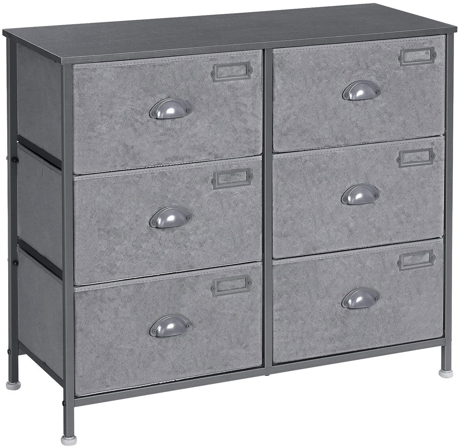 Enjoy fast, free nationwide shipping!  Owned by a husband and wife team of high-school music teachers, HawkinsWoodshop.com is your one stop shop for affordable furniture.  Shop HawkinsWoodshop.com for solid wood & metal modern, traditional, contemporary, industrial, custom, rustic, and farmhouse furniture including our 6 Drawers Gray Fabric Dresser.