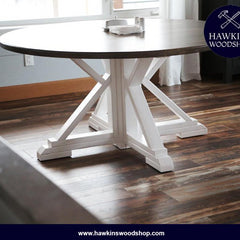 Shop hawkinswoodshop.com for solid wood & metal modern, traditional, contemporary, industrial, custom & farmhouse furniture including our Custom Round Farmhouse Dining Table Built to Order.  Ask about our free nationwide freight delivery and low cost white glove assembly services.