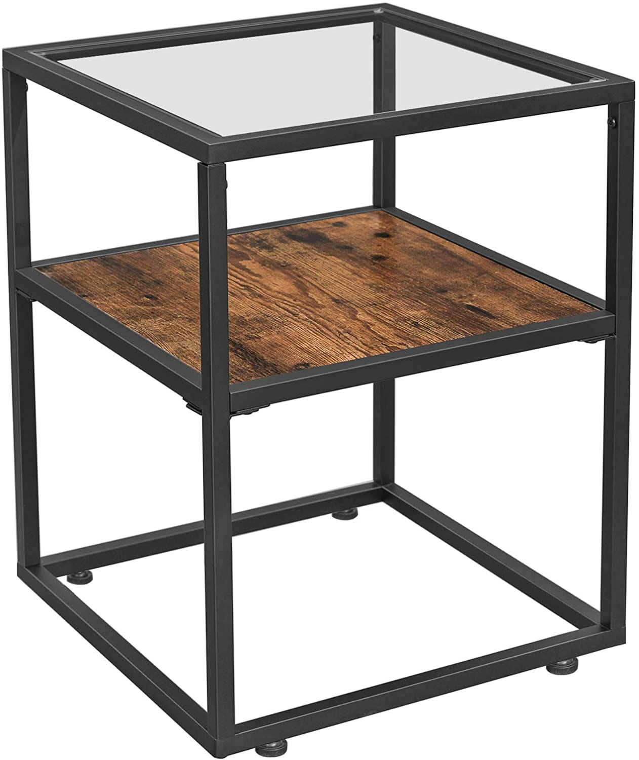 Enjoy fast, free nationwide shipping!  Family owned and operated, HawkinsWoodshop.com is your one stop shop for affordable furniture.  Shop HawkinsWoodshop.com for solid wood & metal modern, traditional, contemporary, industrial, custom, rustic, and farmhouse furniture including our Ryan Glass Tabletop Side Table with Storage Shelf.
