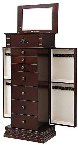 Enjoy fast, free nationwide shipping!  Family owned and operated, HawkinsWoodshop.com is your one stop shop for affordable furniture.  Shop HawkinsWoodshop.com for solid wood & metal modern, traditional, contemporary, industrial, custom, rustic, and farmhouse furniture including our Dark Walnut Large Jewelry Armoire.