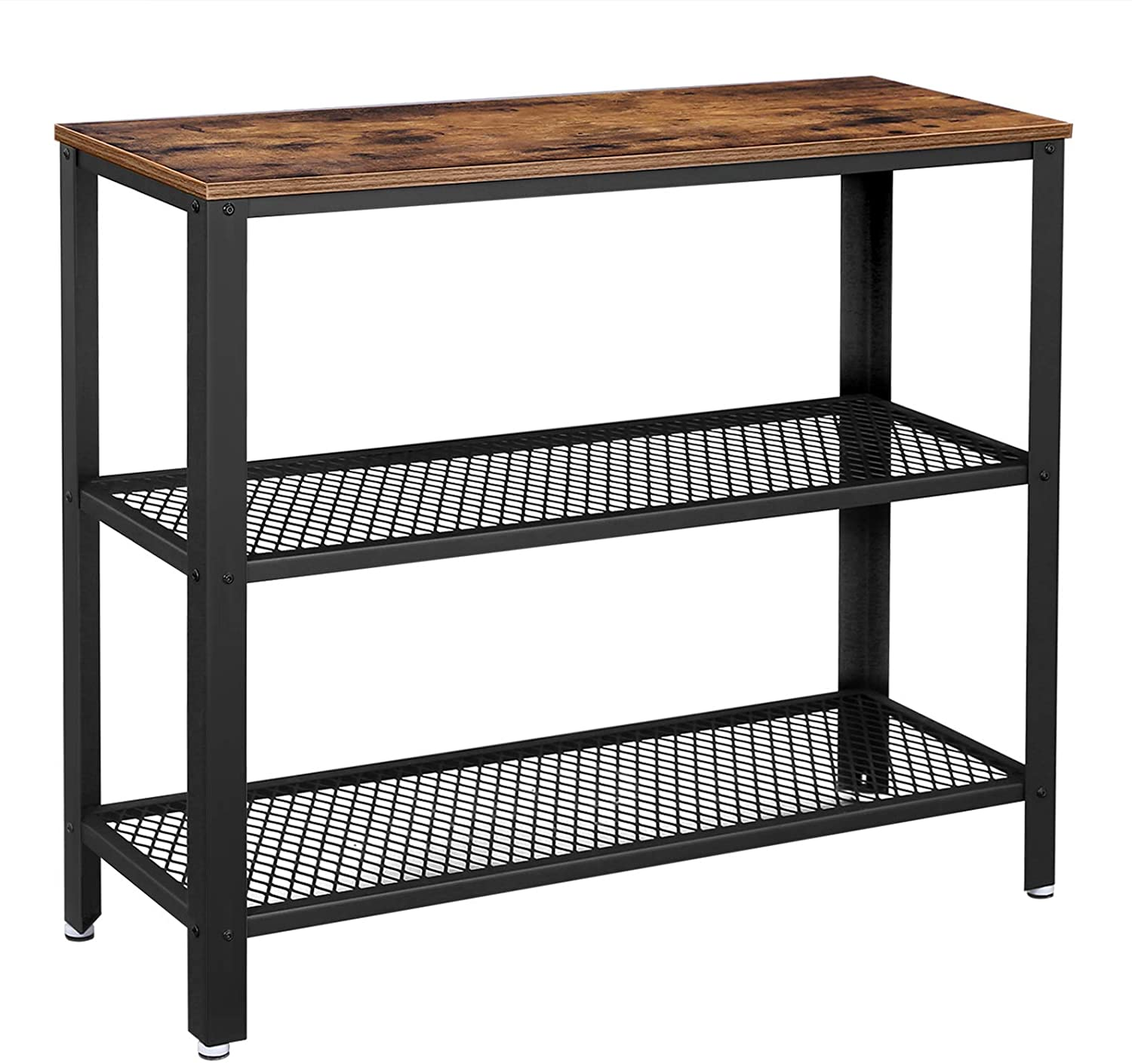 Enjoy fast, free nationwide shipping!  Family owned and operated, HawkinsWoodshop.com is your one stop shop for affordable furniture.  Shop HawkinsWoodshop.com for solid wood & metal modern, traditional, contemporary, industrial, custom, rustic, and farmhouse furniture including our Ryan 2 Mesh Shelves Industrial Console Table.