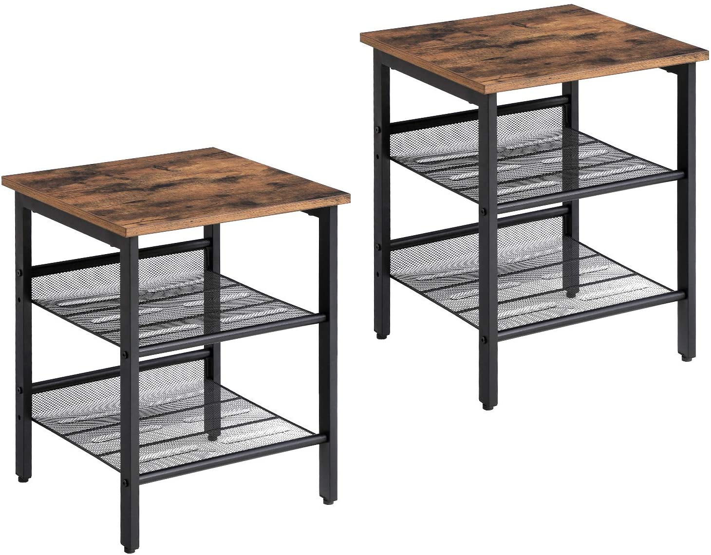 Enjoy fast, free nationwide shipping!  Family owned and operated, HawkinsWoodshop.com is your one stop shop for affordable furniture.  Shop HawkinsWoodshop.com for solid wood & metal modern, traditional, contemporary, industrial, custom, rustic, and farmhouse furniture including our Ryan Industrial Mesh Shelves Nightstand - Set of 2.