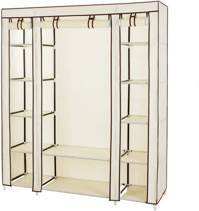 "Enjoy fast, free nationwide shipping!  Family owned and operated, HawkinsWoodshop.com is your one stop shop for affordable furniture.  Shop HawkinsWoodshop.com for solid wood & metal modern, traditional, contemporary, industrial, custom, rustic, and farmhouse furniture including our 59"" Portable Clothes Wardrobe in Beige."