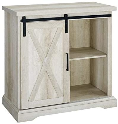 Buffet Storage Cabinet in White Oak