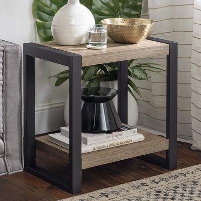 Enjoy fast, free nationwide shipping!  Family owned and operated, HawkinsWoodshop.com is your one stop shop for affordable furniture.  Shop HawkinsWoodshop.com for solid wood & metal modern, traditional, contemporary, industrial, custom, rustic, and farmhouse furniture including our Industrial Wood End Side Accent Table in Driftwood.