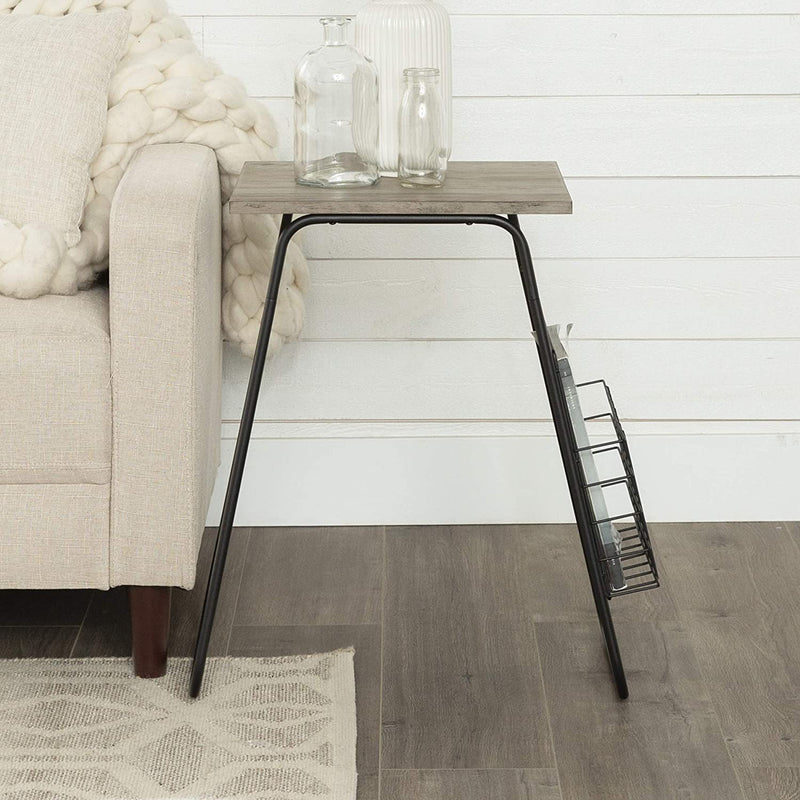 Enjoy fast, free nationwide shipping!  Family owned and operated, HawkinsWoodshop.com is your one stop shop for affordable furniture.  Shop HawkinsWoodshop.com for solid wood & metal modern, traditional, contemporary, industrial, custom, rustic, and farmhouse furniture including our Modern Metal and Marble Magazine Storage End Table in Grey Wash.