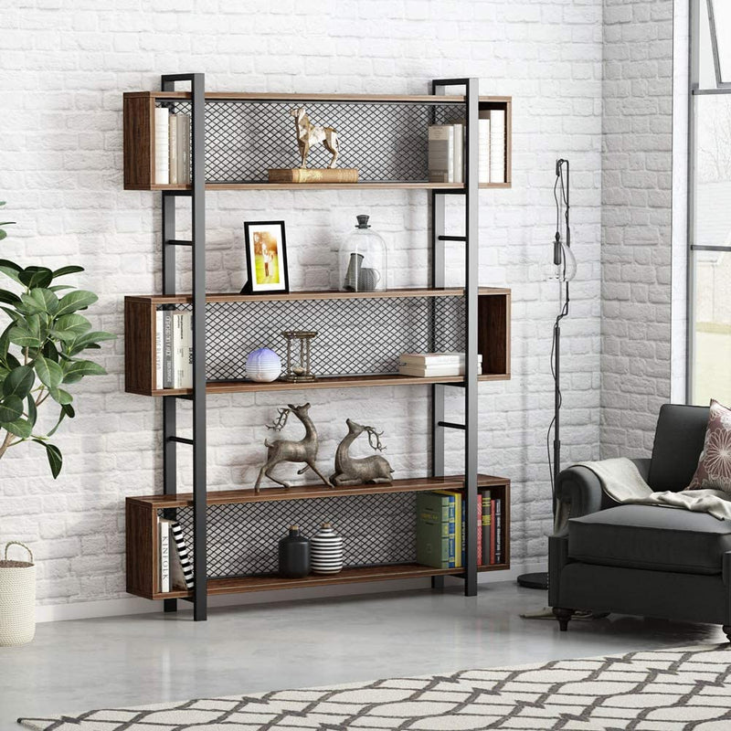 5-Shelf Bookshelf with Metal Wire