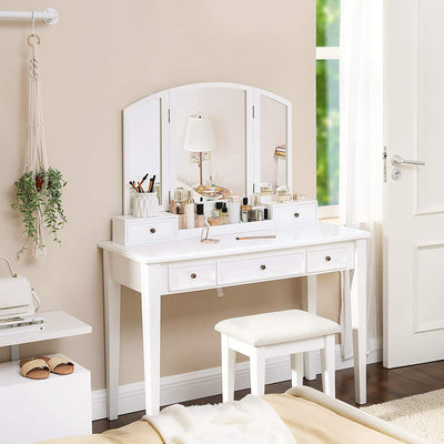Enjoy fast, free nationwide shipping!  Family owned and operated, HawkinsWoodshop.com is your one stop shop for affordable furniture.  Shop HawkinsWoodshop.com for solid wood & metal modern, traditional, contemporary, industrial, custom, rustic, and farmhouse furniture including our White Removable Organizer Vanity Set.