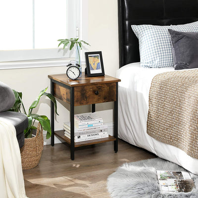 Enjoy fast, free nationwide shipping!  Family owned and operated, HawkinsWoodshop.com is your one stop shop for affordable furniture.  Shop HawkinsWoodshop.com for solid wood & metal modern, traditional, contemporary, industrial, custom, rustic, and farmhouse furniture including our Ryan End Table Nightstand with Drawer.