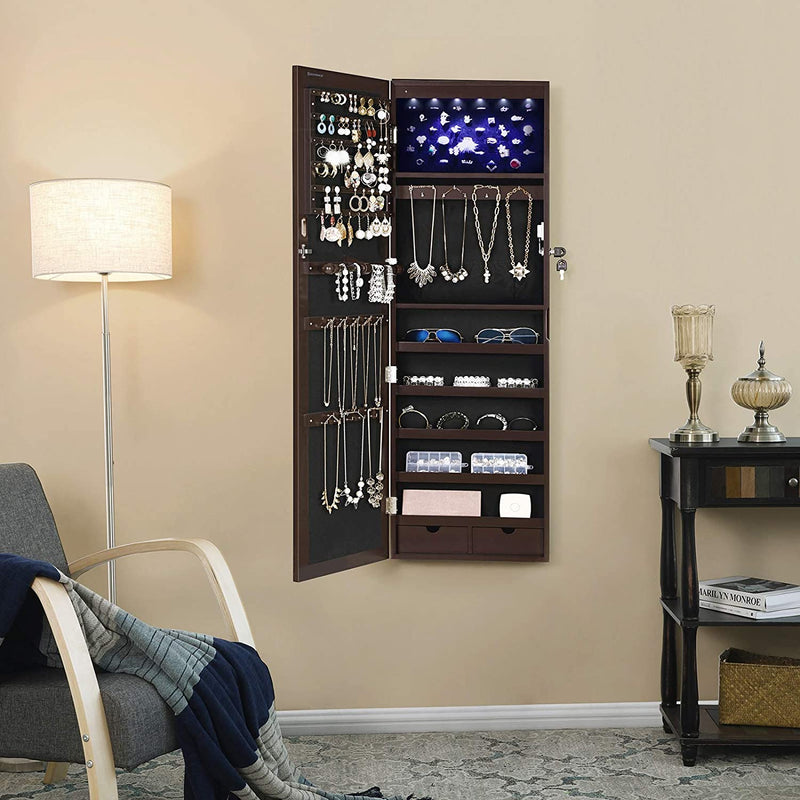Enjoy fast, free nationwide shipping!  Family owned and operated, HawkinsWoodshop.com is your one stop shop for affordable furniture.  Shop HawkinsWoodshop.com for solid wood & metal modern, traditional, contemporary, industrial, custom, rustic, and farmhouse furniture including our Brown Hanging Jewelry Armoire.