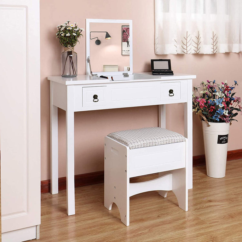 Enjoy fast, free nationwide shipping!  Family owned and operated, HawkinsWoodshop.com is your one stop shop for affordable furniture.  Shop HawkinsWoodshop.com for solid wood & metal modern, traditional, contemporary, industrial, custom, rustic, and farmhouse furniture including our White Flip Top Mirror Dressing Table.