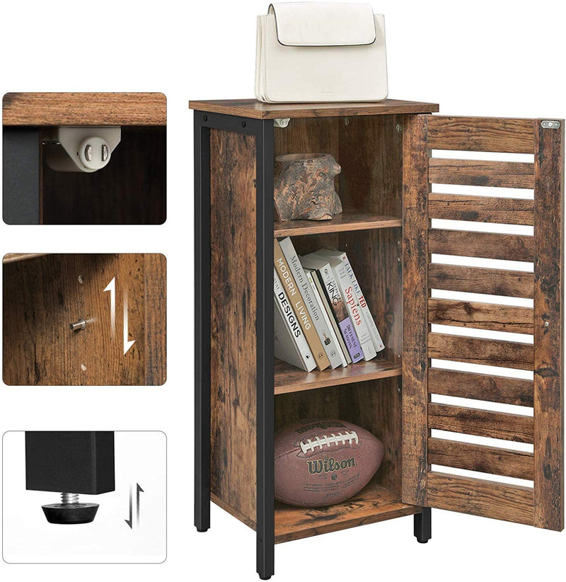 Enjoy fast, free nationwide shipping!  Owned by a husband and wife team of high-school music teachers, HawkinsWoodshop.com is your one stop shop for affordable furniture.  Shop HawkinsWoodshop.com for solid wood & metal modern, traditional, contemporary, industrial, custom, rustic, and farmhouse furniture including our Freestanding Louvered Door Kitchen Storage Cabinet.