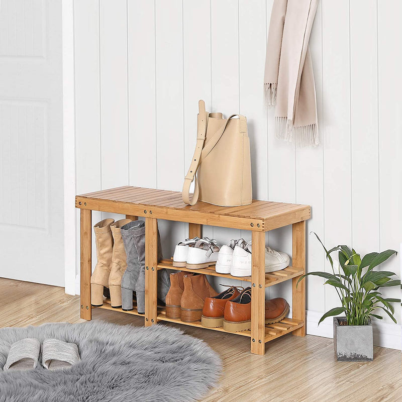 Enjoy fast, free nationwide shipping!  Family owned and operated, HawkinsWoodshop.com is your one stop shop for affordable furniture.  Shop HawkinsWoodshop.com for solid wood & metal modern, traditional, contemporary, industrial, custom, rustic, and farmhouse furniture including our Bamboo Shoe Rack Bench with 3-Tier Storage.