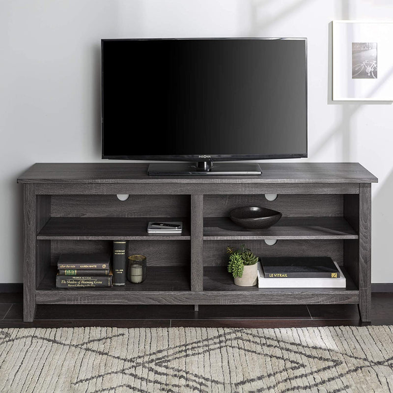 Charcoal TV Stand Farmhouse Console