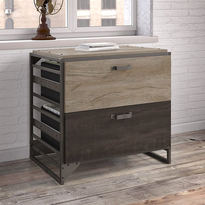 Enjoy fast, free nationwide shipping!  Owned by a husband and wife team of high-school music teachers, HawkinsWoodshop.com is your one stop shop for affordable furniture.  Shop HawkinsWoodshop.com for solid wood & metal modern, traditional, contemporary, industrial, custom, rustic, and farmhouse furniture including our Refinery Lateral File Cabinet, Rustic Gray/Charred Wood.