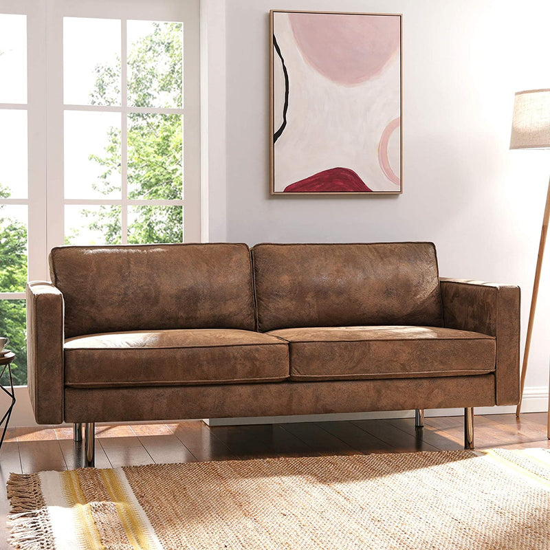 Enjoy fast, free nationwide shipping!  Family owned and operated, HawkinsWoodshop.com is your one stop shop for affordable furniture.  Shop HawkinsWoodshop.com for solid wood & metal modern, traditional, contemporary, industrial, custom, rustic, and farmhouse furniture including our Synthetic Suede Wood Frame Legs Sofa.