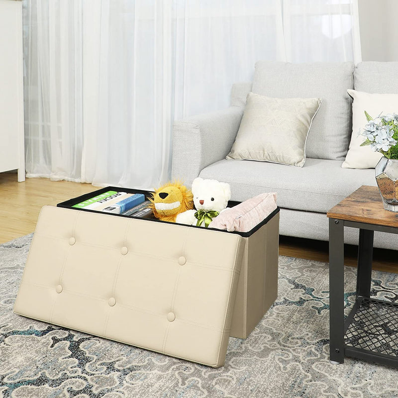 Enjoy fast, free nationwide shipping!  Family owned and operated, HawkinsWoodshop.com is your one stop shop for affordable furniture.  Shop HawkinsWoodshop.com for solid wood & metal modern, traditional, contemporary, industrial, custom, rustic, and farmhouse furniture including our Beige Faux Leather Tufted Ottoman.