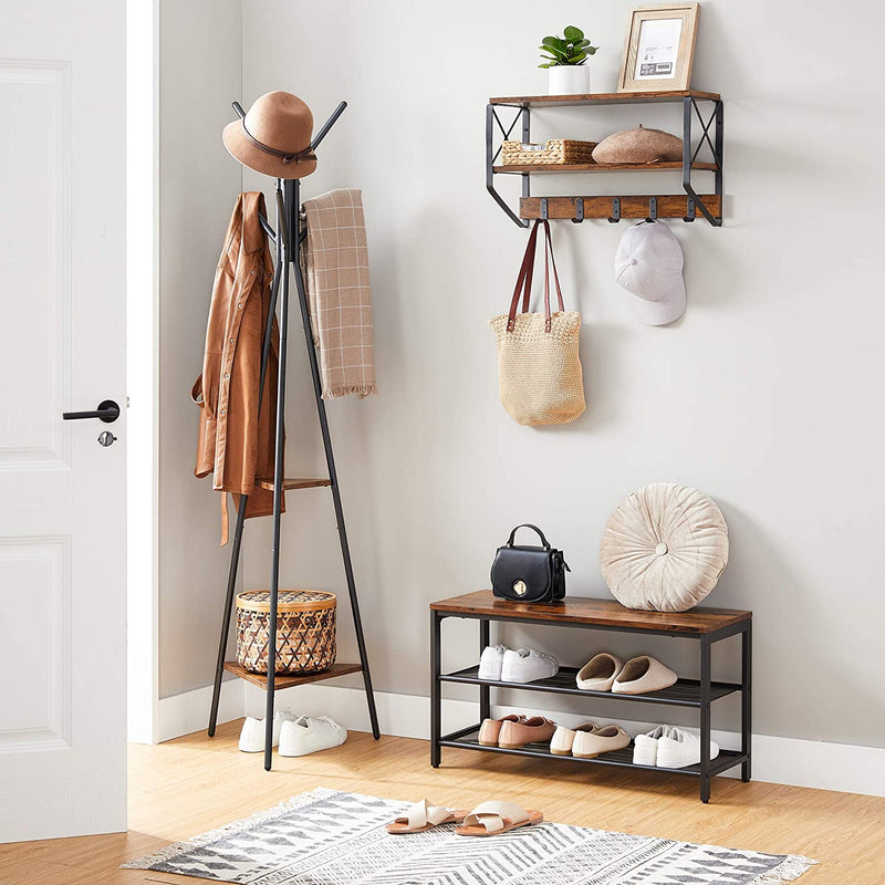 Enjoy fast, free nationwide shipping!  Owned by a husband and wife team of high-school music teachers, HawkinsWoodshop.com is your one stop shop for affordable furniture.  Shop HawkinsWoodshop.com for solid wood & metal modern, traditional, contemporary, industrial, custom, rustic, and farmhouse furniture including our Tapered Coat Tree Rack Stand.