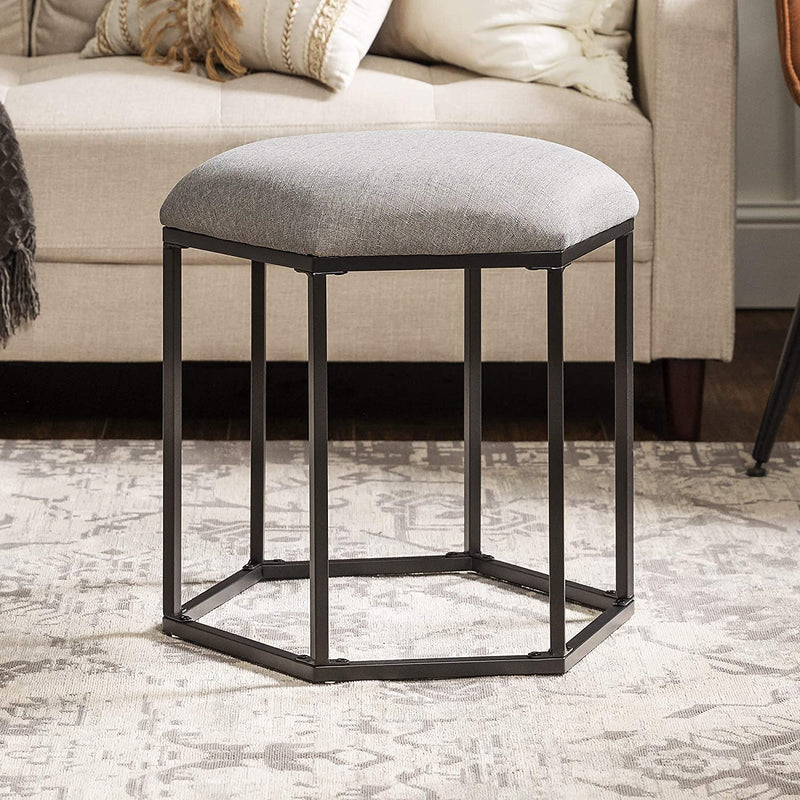 Enjoy fast, free nationwide shipping!  Family owned and operated, HawkinsWoodshop.com is your one stop shop for affordable furniture.  Shop HawkinsWoodshop.com for solid wood & metal modern, traditional, contemporary, industrial, custom, rustic, and farmhouse furniture including our Hexagon Upholstered Fabric Ottoman Stool in Grey.