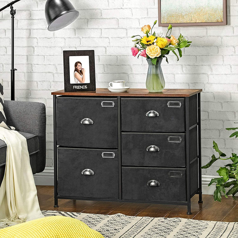 Enjoy fast, free nationwide shipping!  Family owned and operated, HawkinsWoodshop.com is your one stop shop for affordable furniture.  Shop HawkinsWoodshop.com for solid wood & metal modern, traditional, contemporary, industrial, custom, rustic, and farmhouse furniture including our 5 Drawers Wide Fabric Dresser.